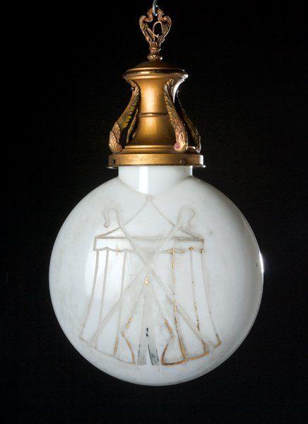 Odd Fellows, Patriarch Militant, Globe Light Fixture (1900)
