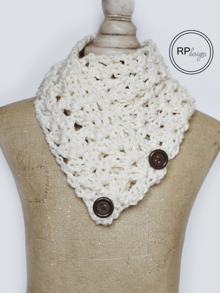 "The ""Victoria"" Button Crochet Scarf Pattern"