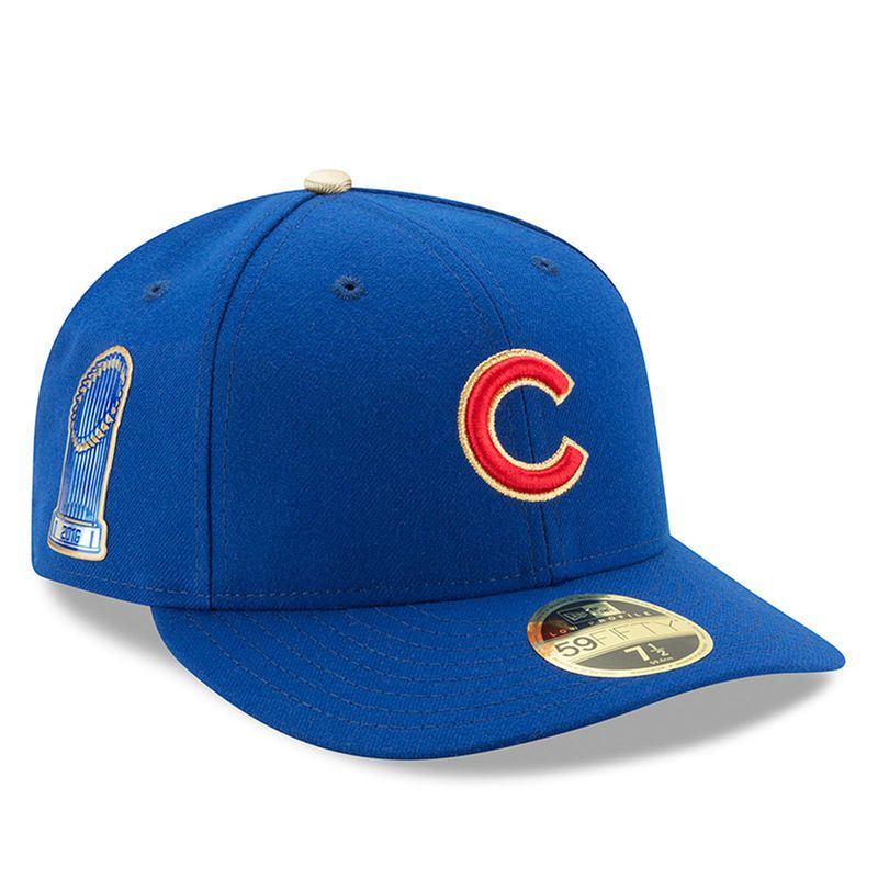 Chicago Cubs New Era 2017 Gold Program World Series Champions Commemorative  Low Profile 59FIFTY Fitted Hat 115eda9b6735