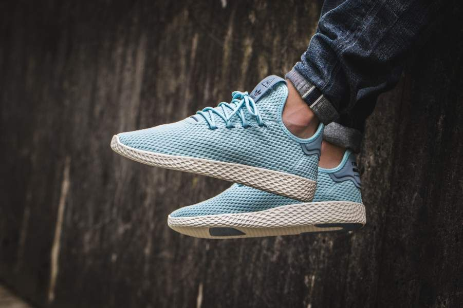 best sneakers 7ca07 f376c Pharrell Williams X Adidas Tennis Hu  CP9764  130 Release Date August 8,  2017 Size Run Mens Color Ice Blue Tactile Blue Style Code CP9764