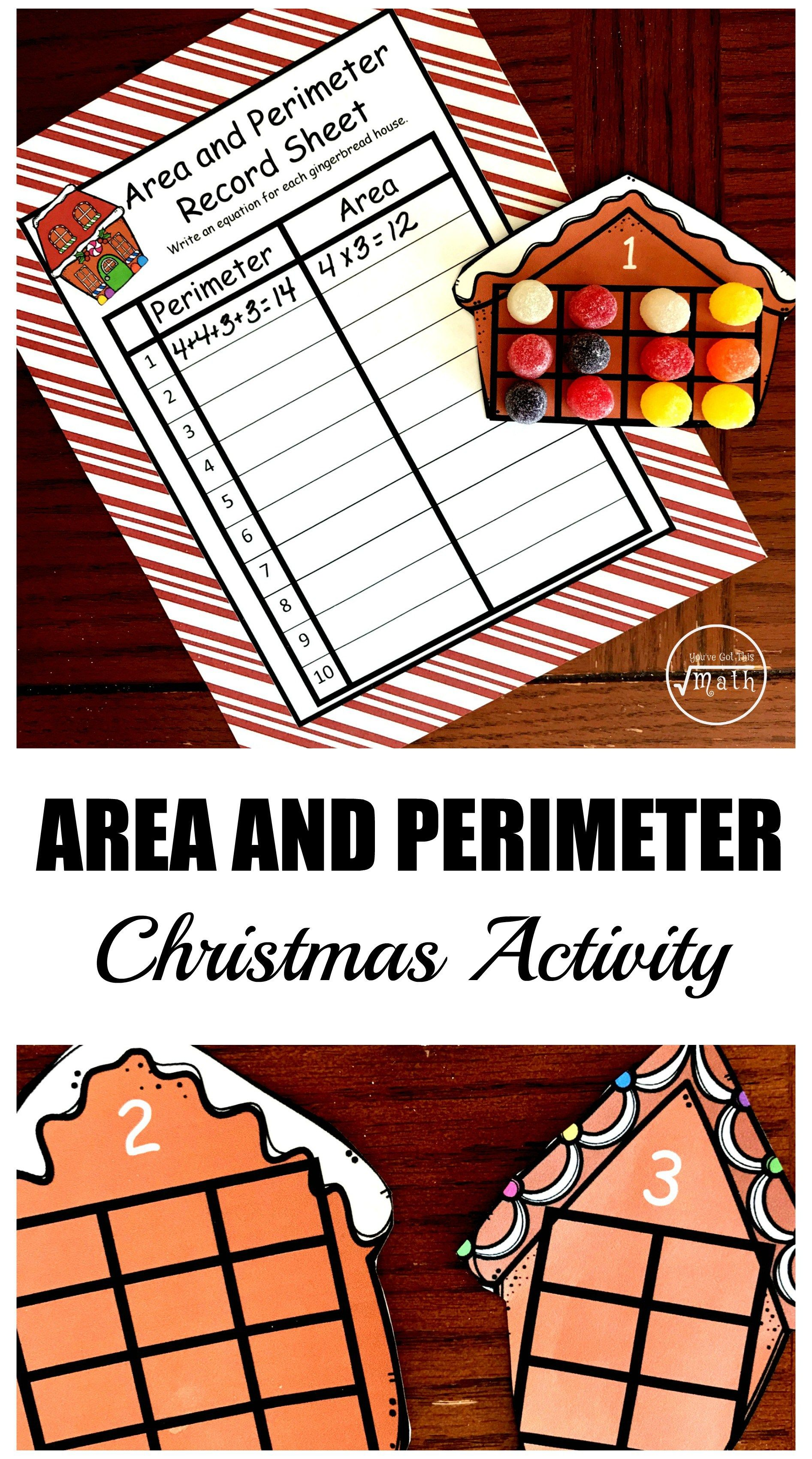 Here S A Free Christmas Themed Area And Perimeter Activity