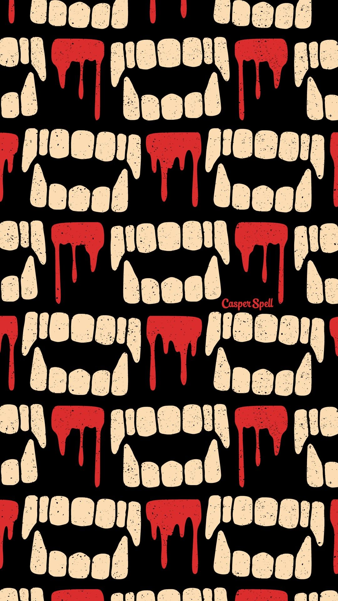 Vampire Teeth Repeat Pattern Wallpaper Halloween Cute Creepy Spooky Macabre Dark Ar Halloween Wallpaper Iphone Halloween Wallpaper Lock Screen Wallpaper Iphone