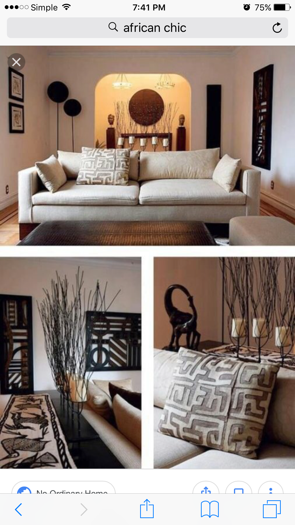 Couple Home African Living Rooms African Decor Living Room African Interior