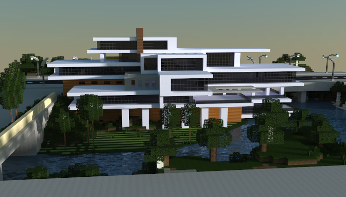 Large modern house i made in minecraft download http for Minecraft haus modern