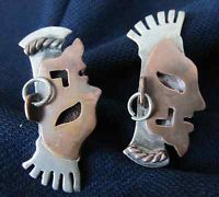 Mexican Sterling Vintage RARE Signed MPO Earrings Manuel Pedro Ortiz ER's