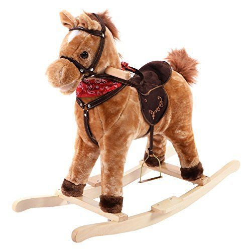 Costzon Children Classic Rocking Horse Rider Toddler Kids Toy Saddle Ride Gift W Song For More Classic Rocking Horse Kids Ride On Toys Kids Rocking Horse