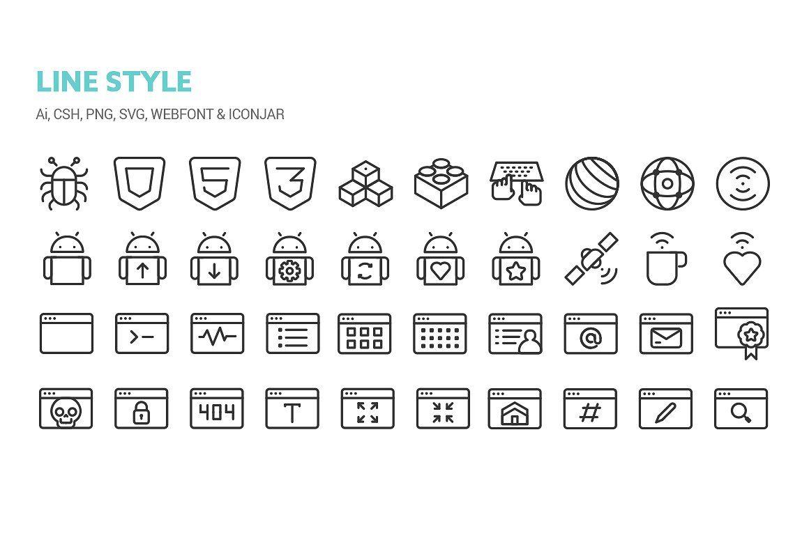 Web Dev Icons Quality Perfect Details Fine Digital Art
