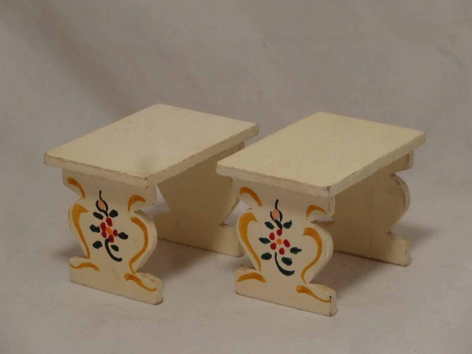 Dora Kuhn (Rare) Kitchen table benches- Vintage German Dollhouse furniture   eBay