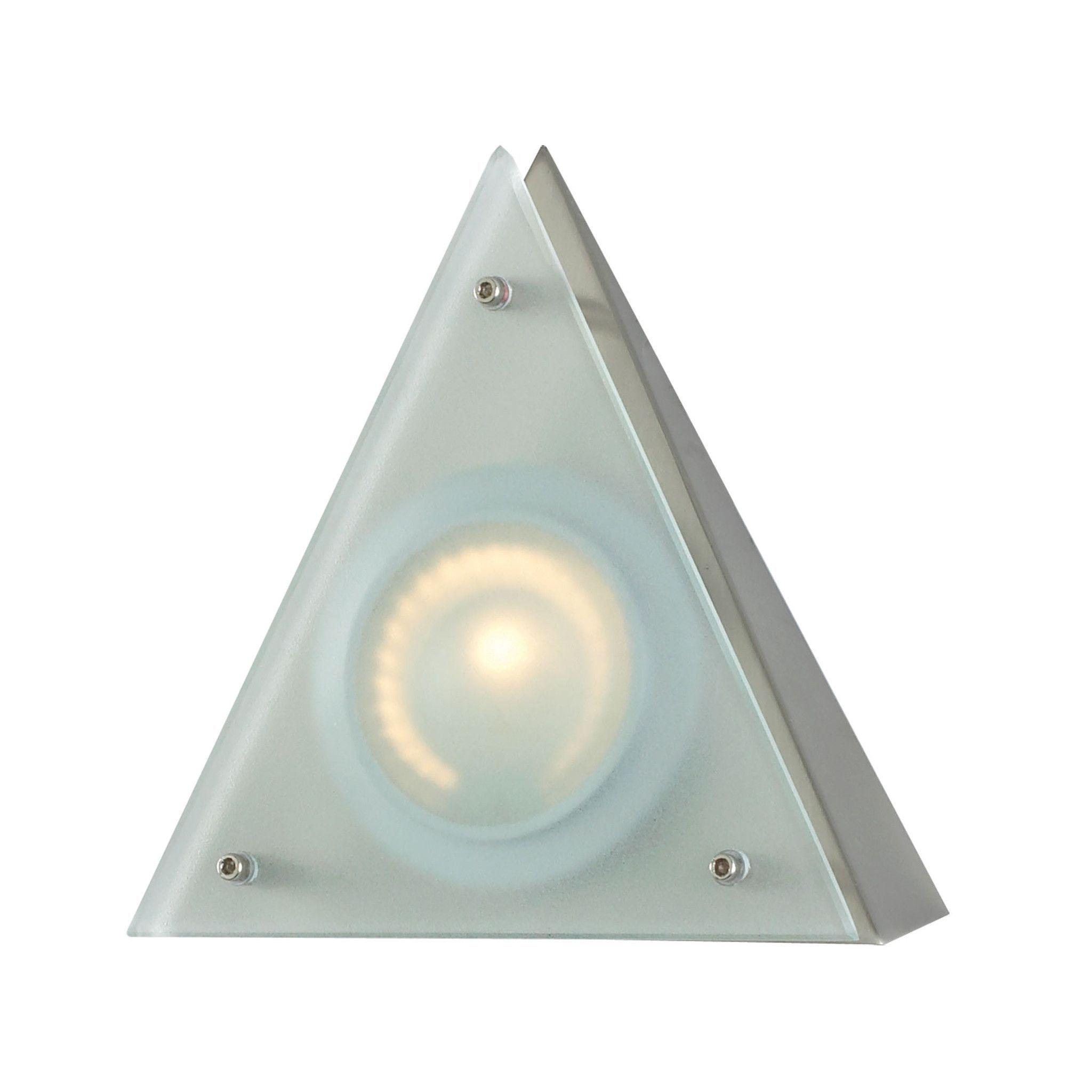 Aurora 1 Light Wedge Disc Light In Stainless Steel