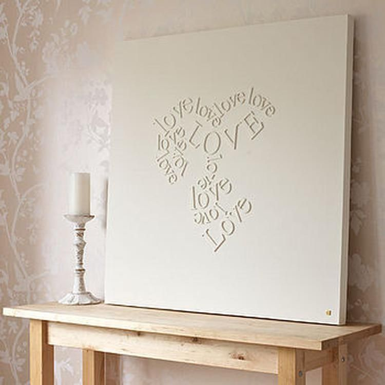 Mooie Houten Letters.Houten Letters Op Canvas En Schilderen Ook Leuk Om Met