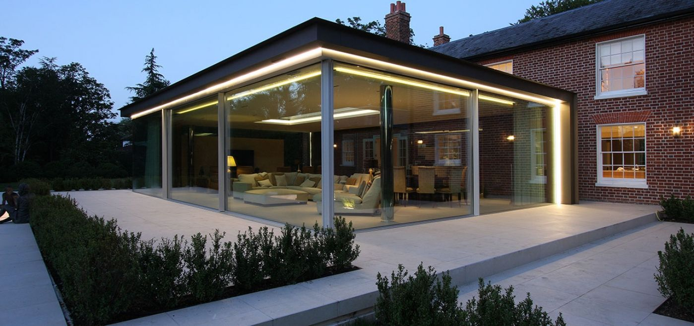 See How This Recent Contemporary Glass Extension With A Floating Roof In  Berkshire Used A Mixture Of Our Glazing; Slim Framed Sliding Glass Doors,  ...