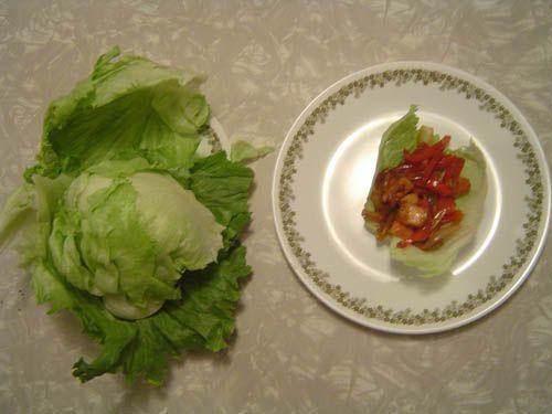 Chicken Lettuce Wraps. Yum!