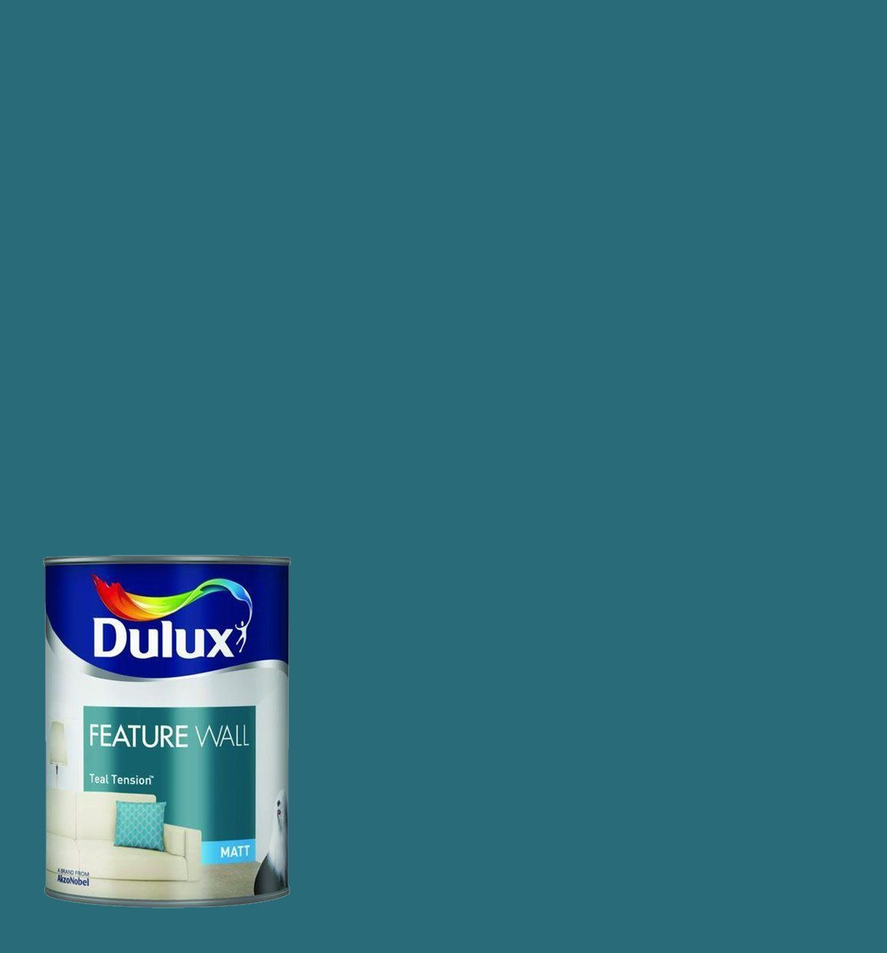 Dulux Feature Wall Paint Teal Tension Amazon Co Uk Diy Tools