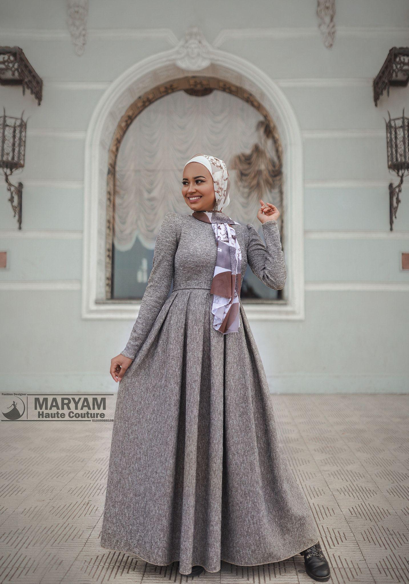 اجمل فساتين المحجبات من مريم للأزياء الراقية Hijab Dresses In 2021 Dresses Victorian Dress Fashion