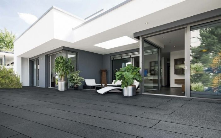 luxeo anthrazit brillant terrassen pinterest anthrazit gartenweg und strahlen. Black Bedroom Furniture Sets. Home Design Ideas