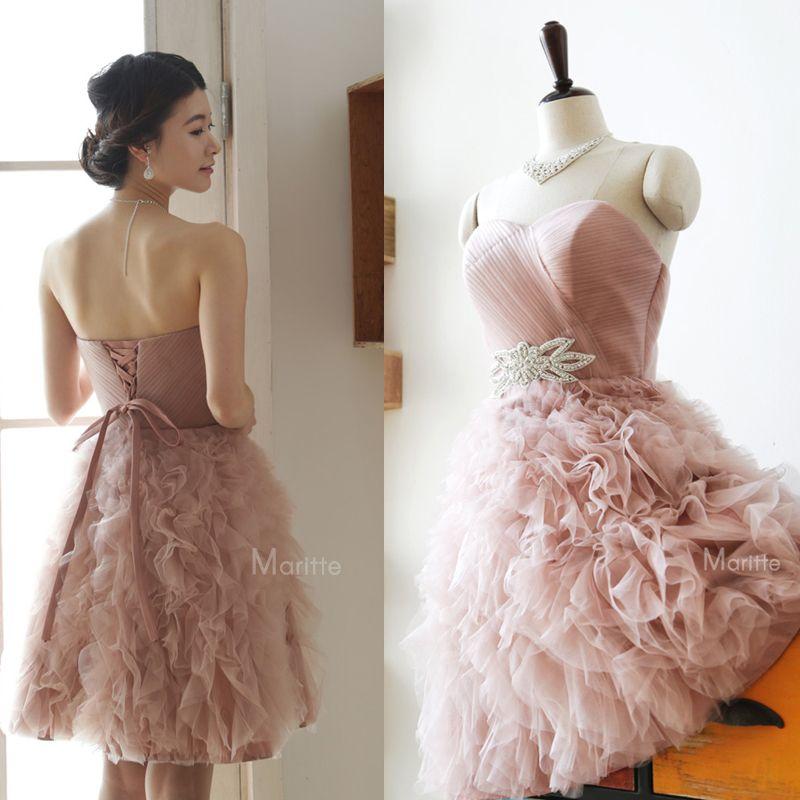 rose p le robe de demoiselle d 39 honneur pour mariage robes. Black Bedroom Furniture Sets. Home Design Ideas