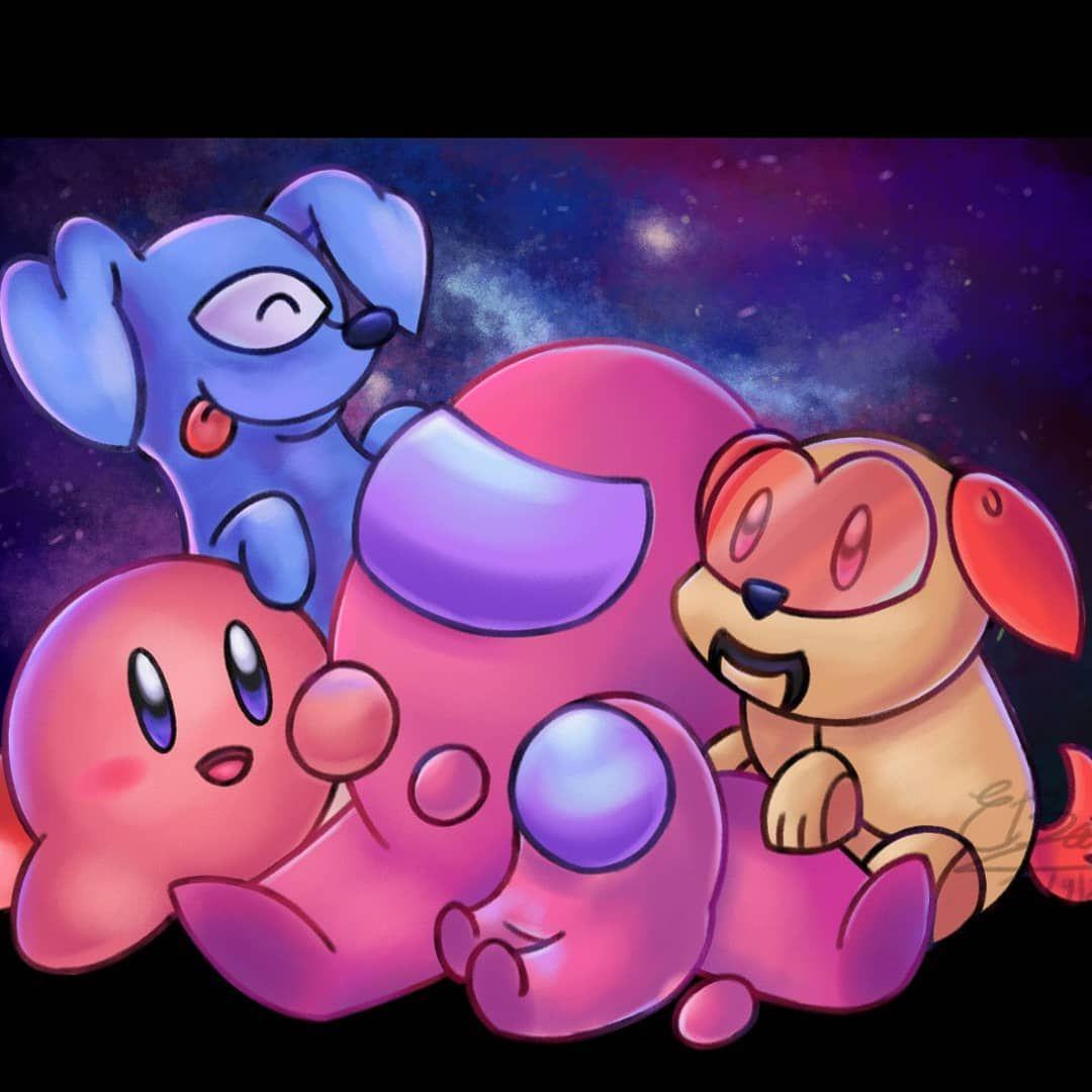 Crossover Entre Kirby Y Among Us Amongus Amongusfanart Fanart Digitalart Digital Pink Kirby Ni Hipster Wallpaper Cute Art Fan Art