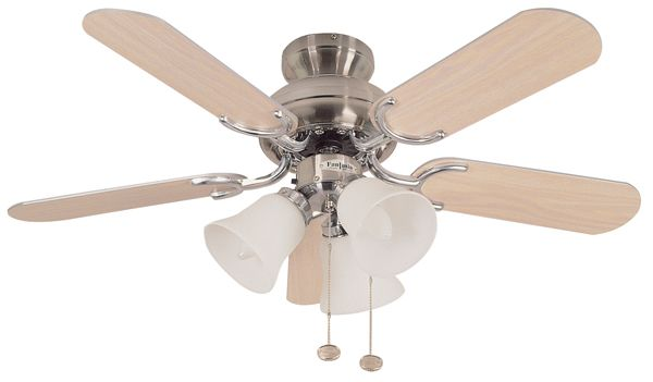 Fantasia 110187 36in Capri Combi Stainless Steel Ceiling Fan With