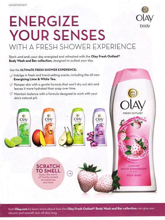 Olay Fresh Outlast body wash ad   Body & Bath Fragrances