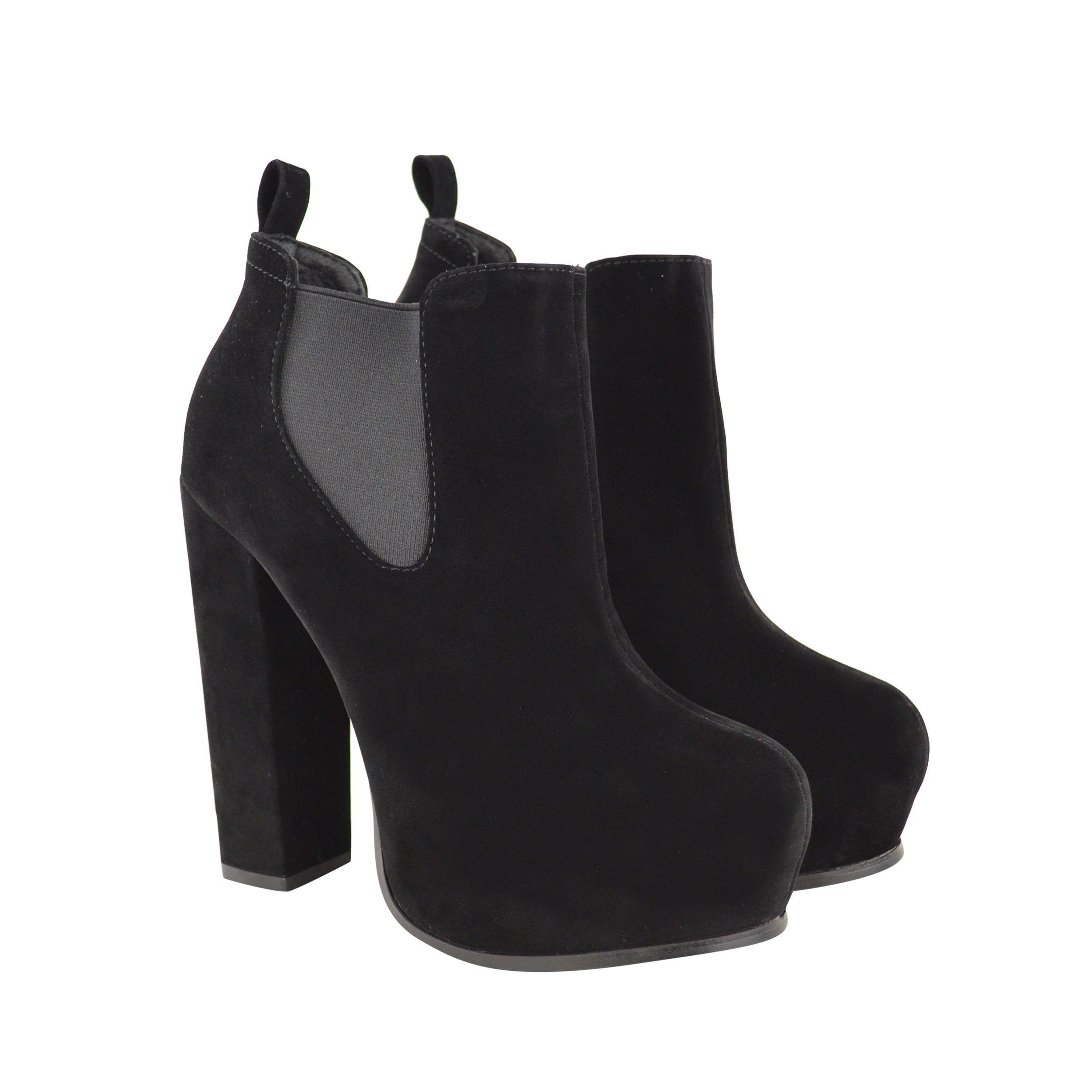 Boots, Suede high heel boots