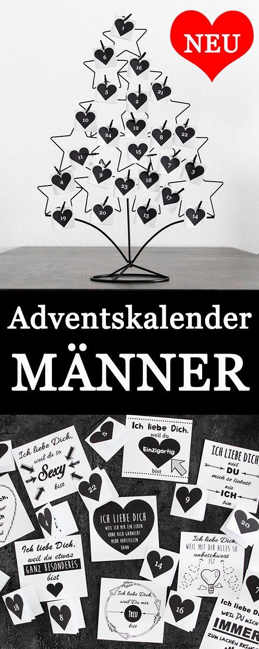 Liebevollen Adventskalender für deinen Partner basteln