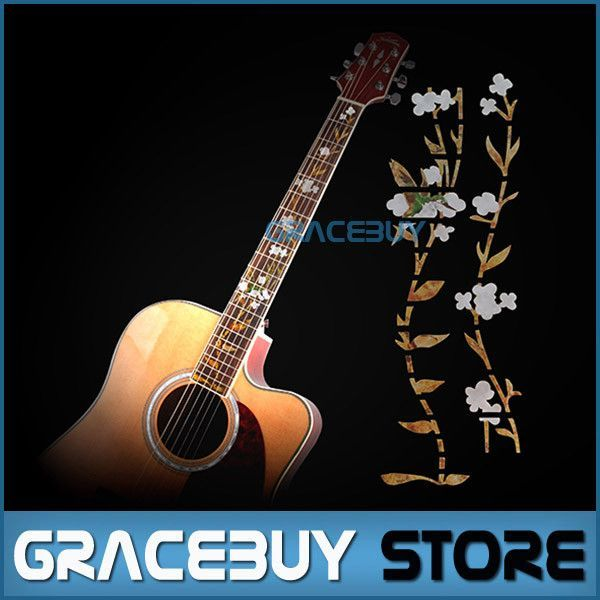 Fretboard Inlay Stickers White Shell Flowers Guitar Fret Decals Marker For  Acoustic or Electric Guitarra Neck