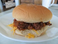 Sloppy joes in the crock pot w/ chicken gumbo soup as one of the ingredients. :) #crockpotgumbo Sloppy joes in the crock pot w/ chicken gumbo soup as one of the ingredients. :) #crockpotgumbo