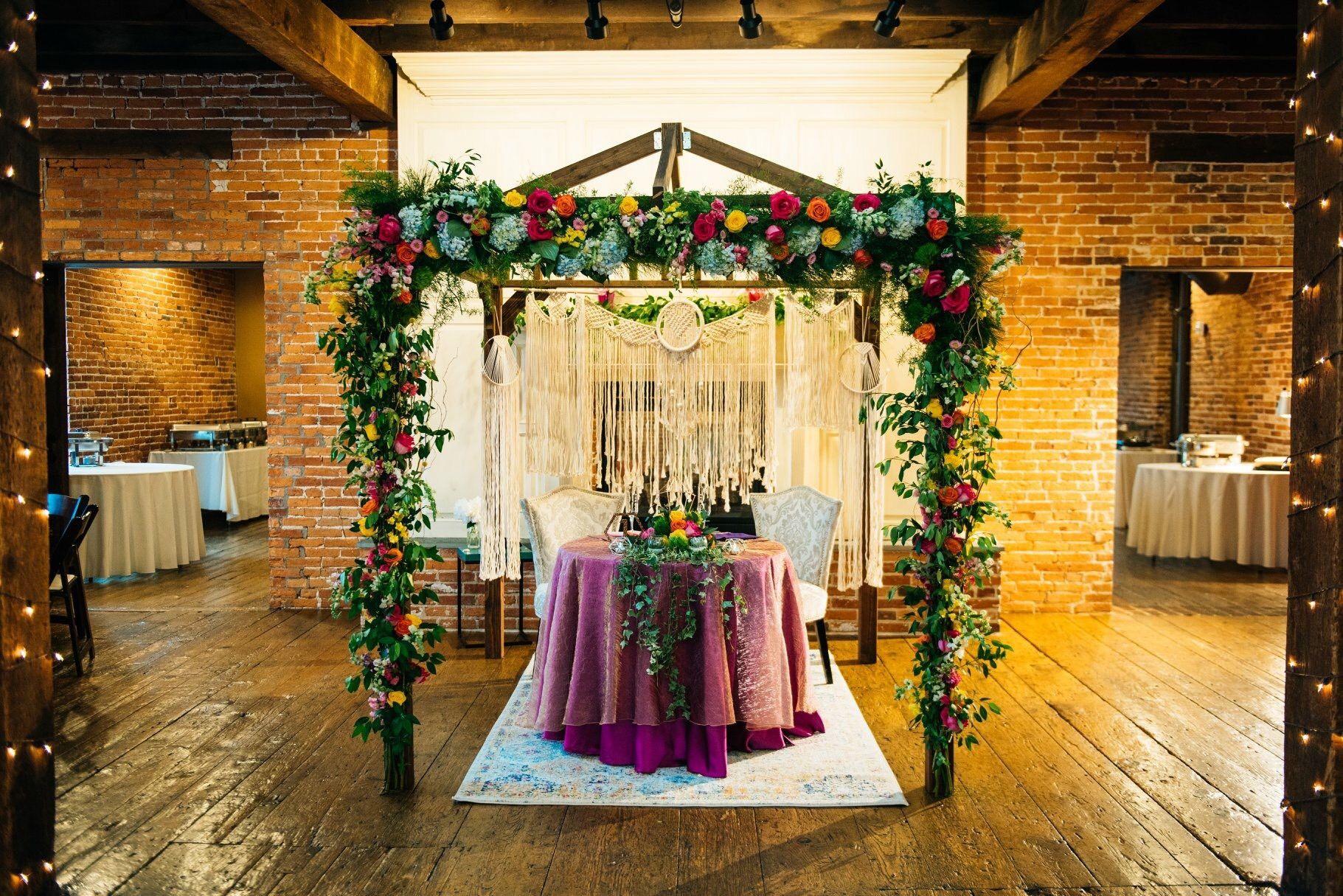 The Booking House Wedding Reception Ceremony Warehouse Jewish