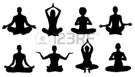 Stock Vector Silhouette Art Meditation Silhouette