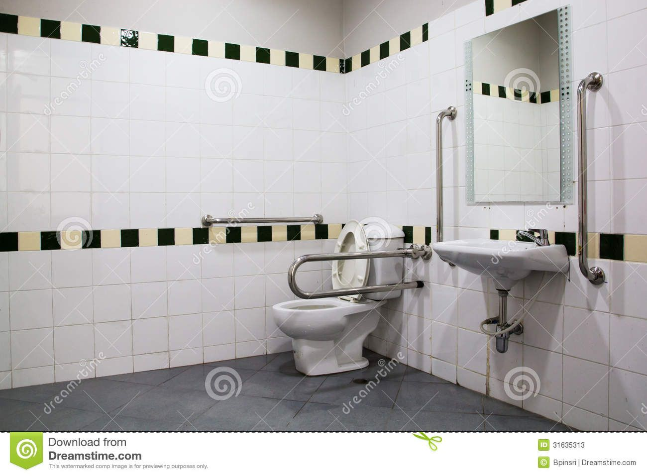Handicap Grab Bar Placement In Bathrooms | Stock Photos: Handicap Bathroom  With Grab Bars And