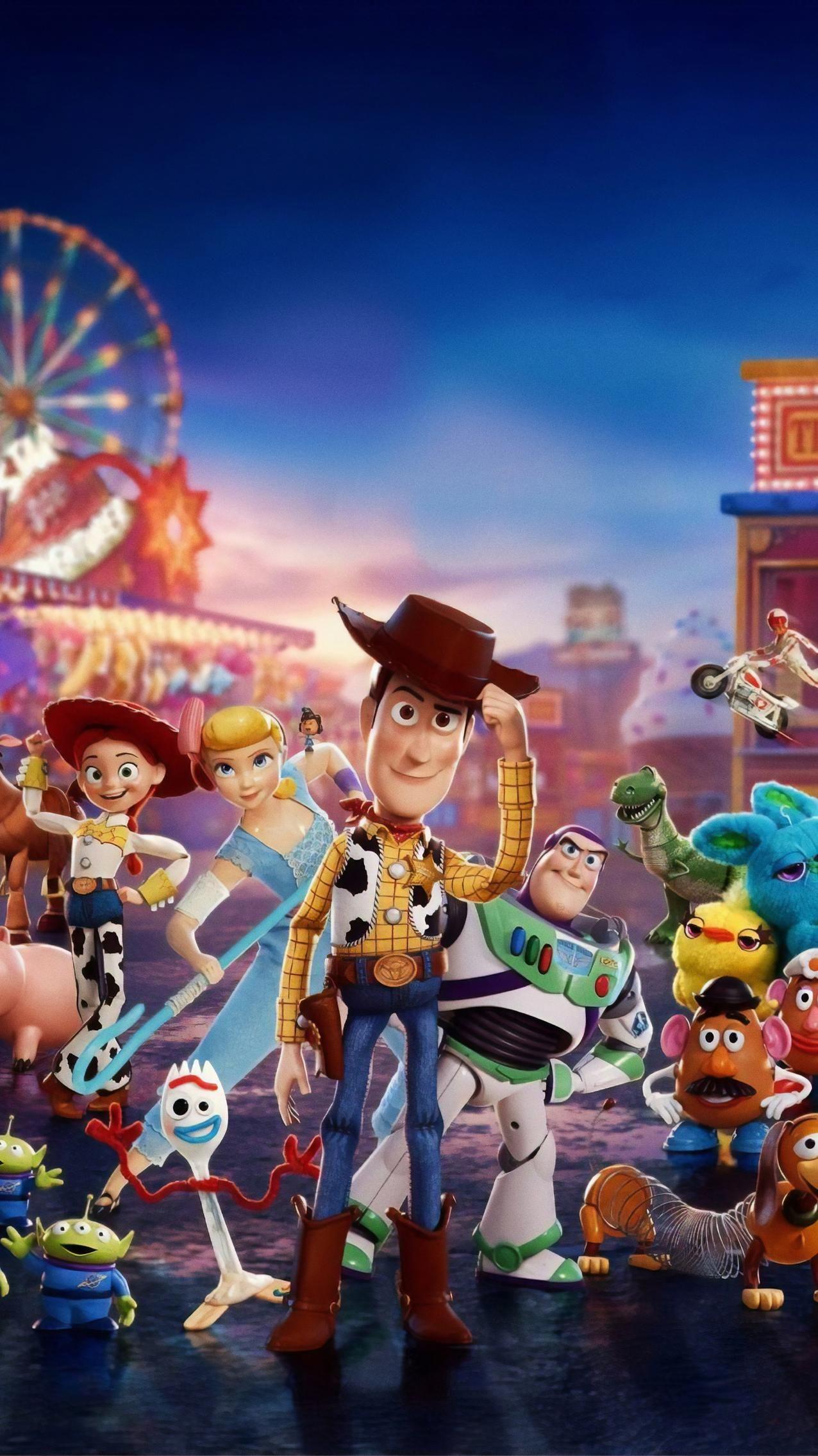 Toy Story 4 2019 Phone Wallpaper Moviemania Toy Story Movie Disney Toys Pixar Movies