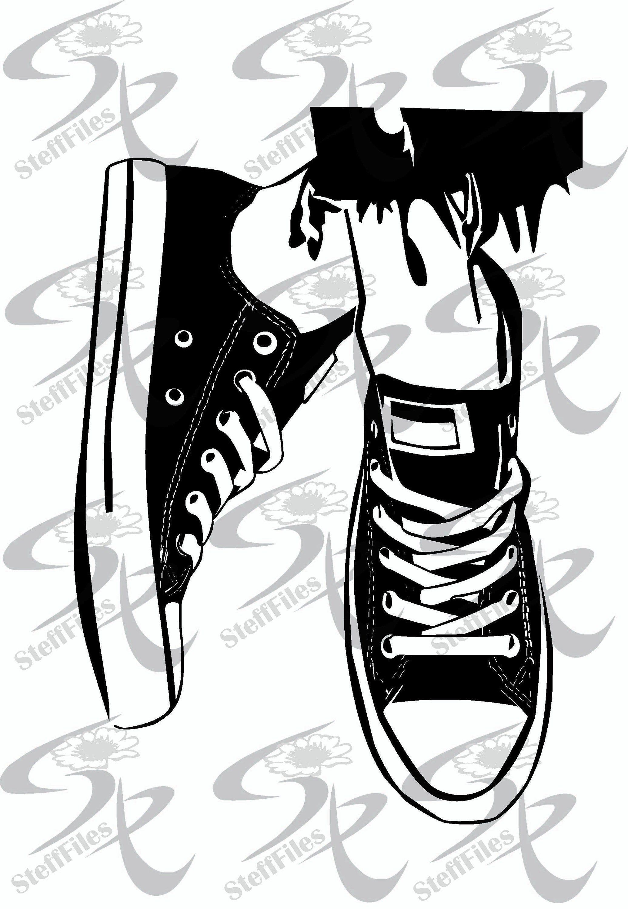 Vector Sneakers Shoes Casual Training Isolated Fashion Sport Etsy In 2021 Clip Art Sneakers Converse Drawing