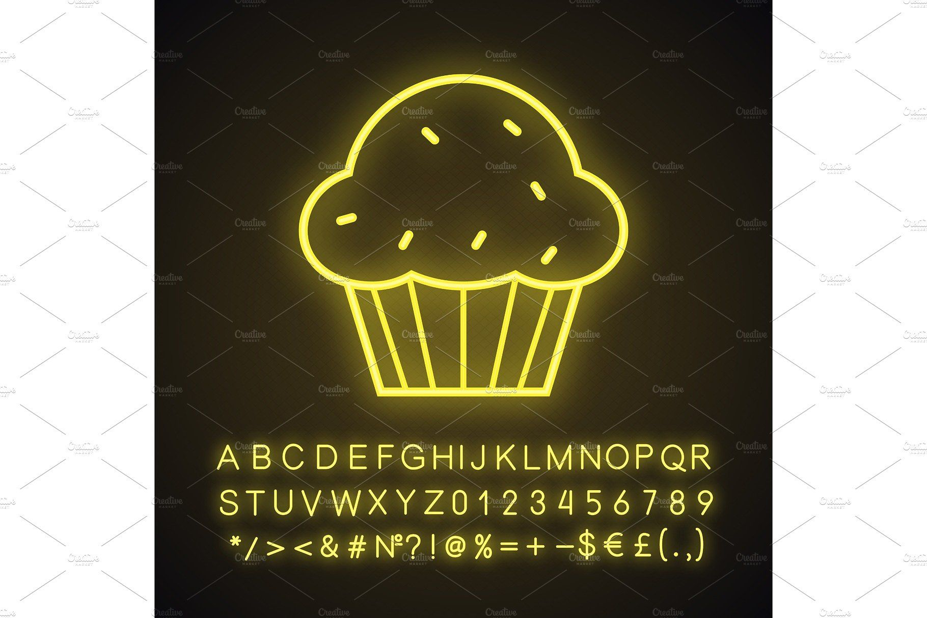 Cupcake neon light icon Light icon, Neon lighting, Neon