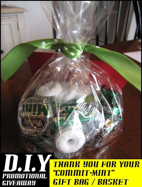 Diy Promotional Gift Thanks For Your Commit Mint Bag Basket