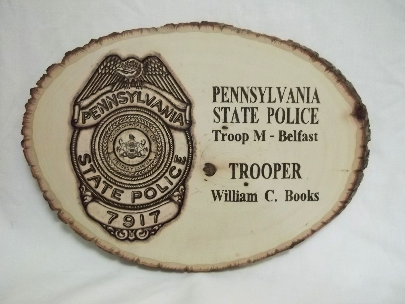 47c64c0b5 Police badge plaque, retirement gifts, law enforcement gift, Pennsylvania  State Police Department