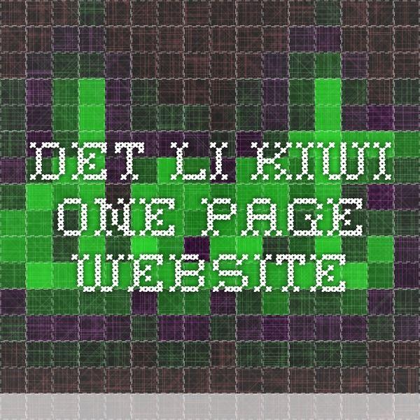 det.li  - Kiwi One Page Website