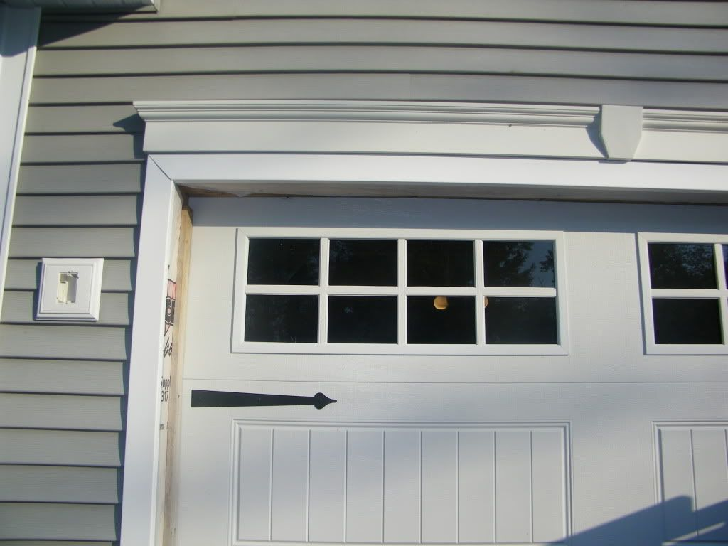 garage door trim kitAdd trim to garage doorAdd hardware to you boring garage door to