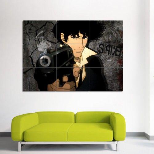Cowboy Bebop Spike Block Giant Wall Art Poster (P-0101)