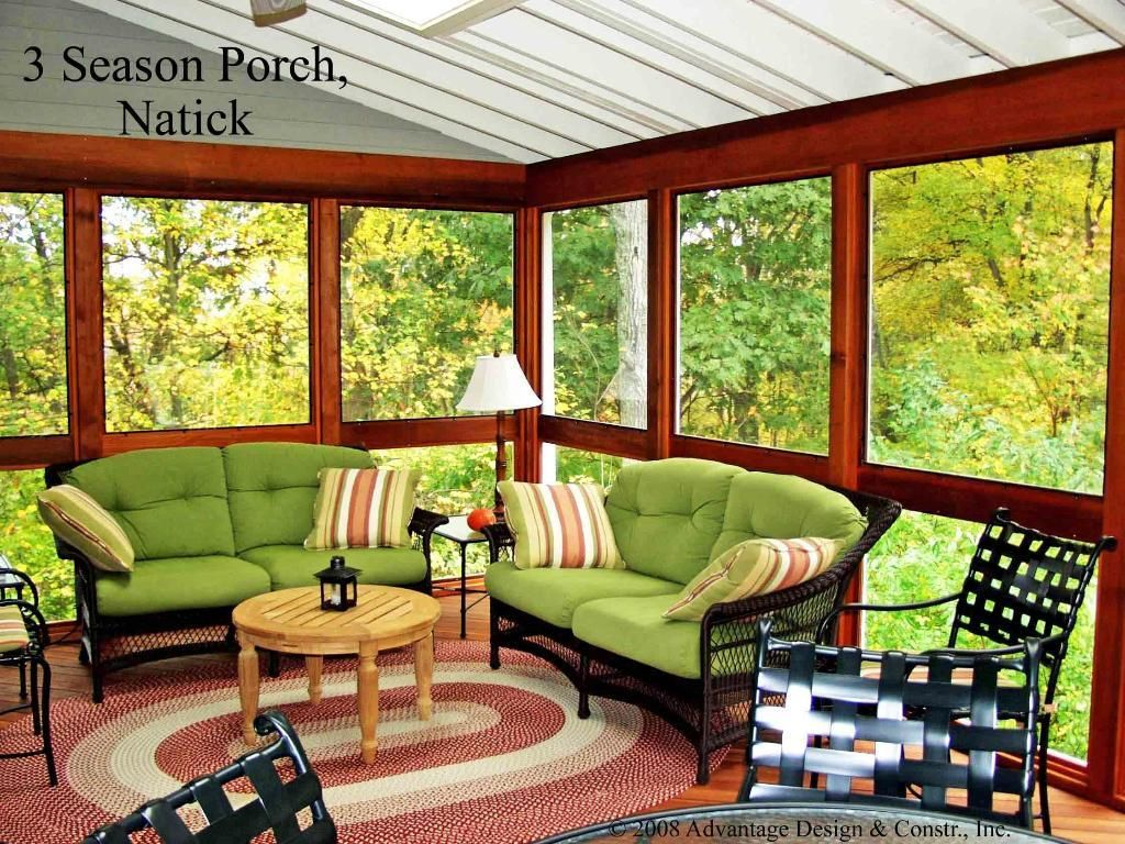 Interior Of 3 Season Porch 3 4 Season Rooms Photo Gallery Archadeck Of Suburban Boston Porch Interior 3 Season Porch Porch Furniture