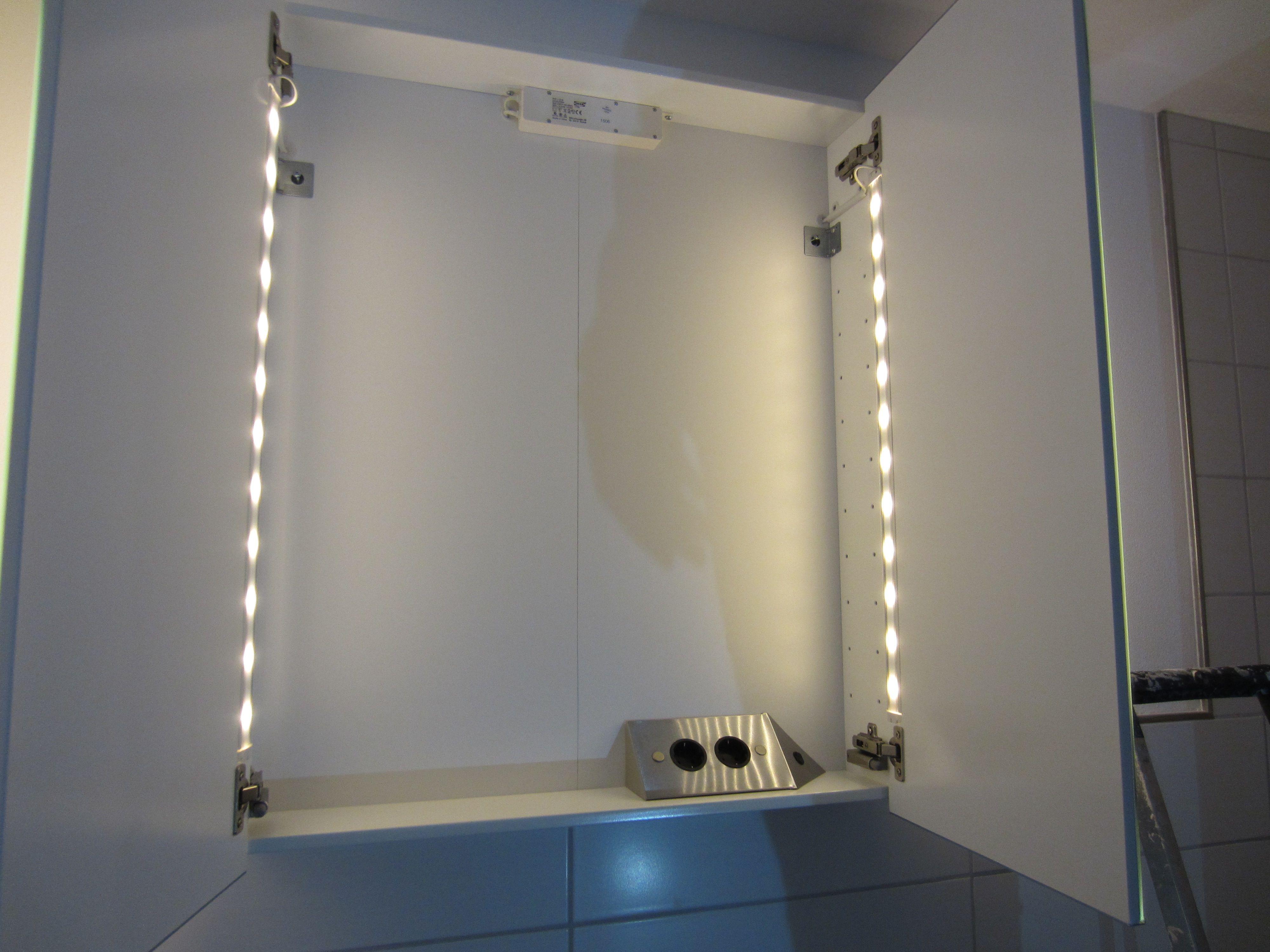 Ikea Hack Storjorm 2 0 Hus 23 Storjorm Spiegelschrank Bad Ikea Hack Flach Badezimmer Extra Montie In 2020 Bathroom Mirror Lighted Bathroom Mirror Vanity Mirror