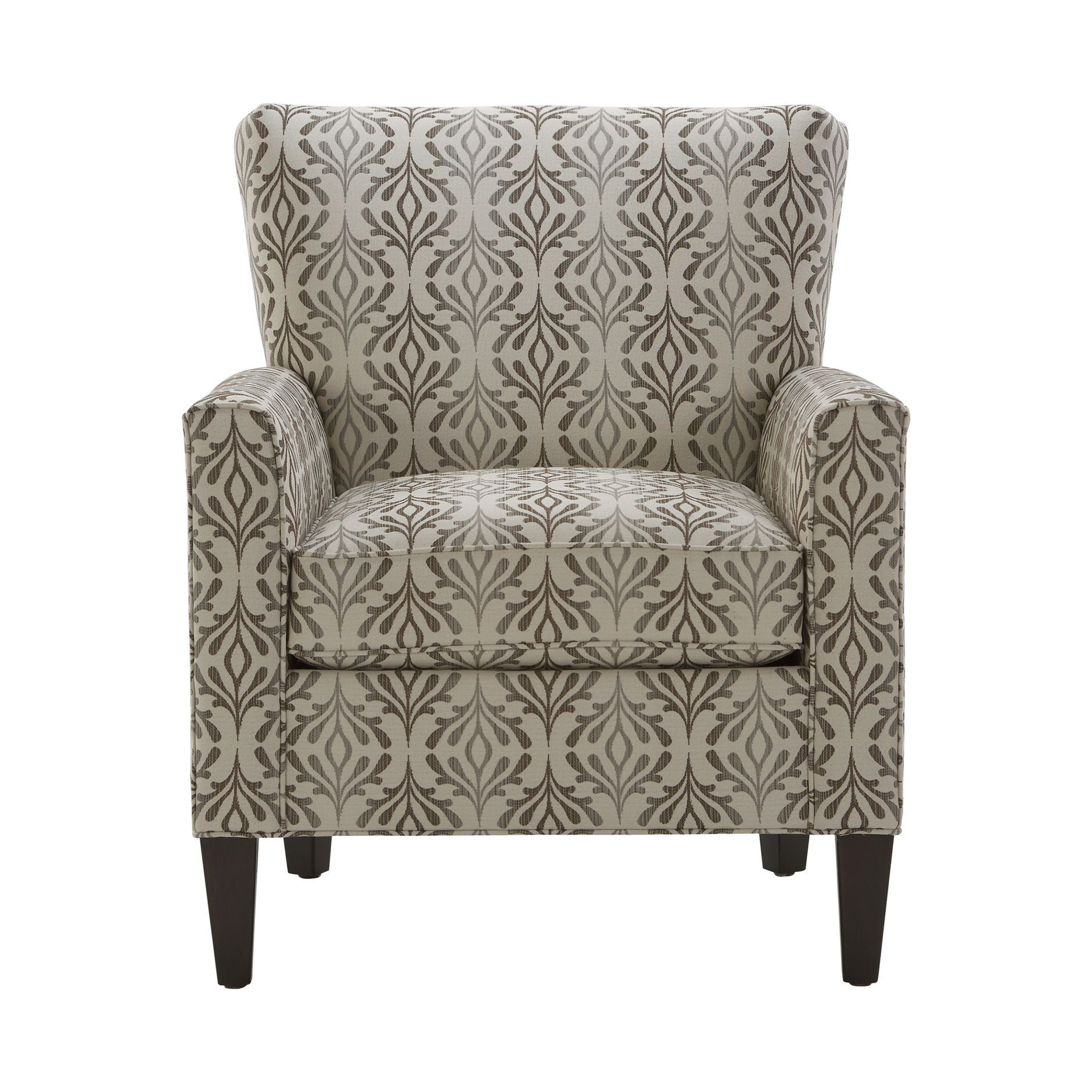 Love this fabric pattern and the style of the chair, Collin Chair ...