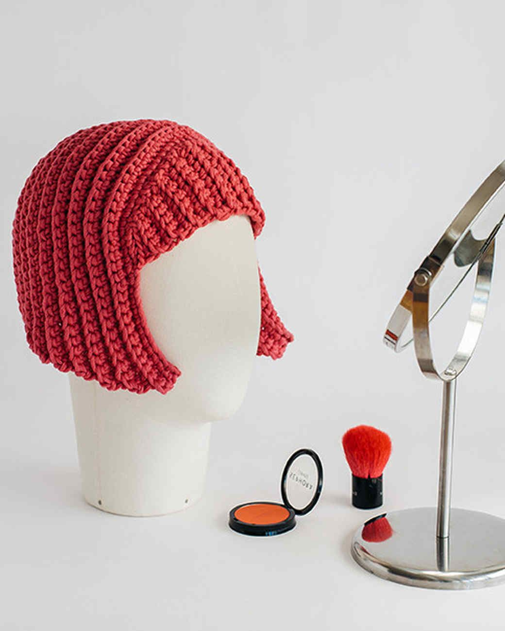 Crocheted Yarn Wig | Crochet patterns | Pinterest | Gorros, Peluca y ...