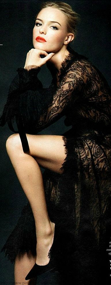 Black lace, woman boudoir fashion