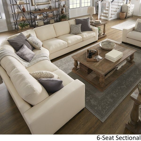 lionel white cotton fabric down filled l shaped sectional by inspire rh pinterest es