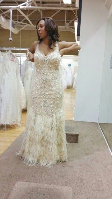 Potential private ceremony gown. Or third gown. Needs to be tailored slightly to fit right.