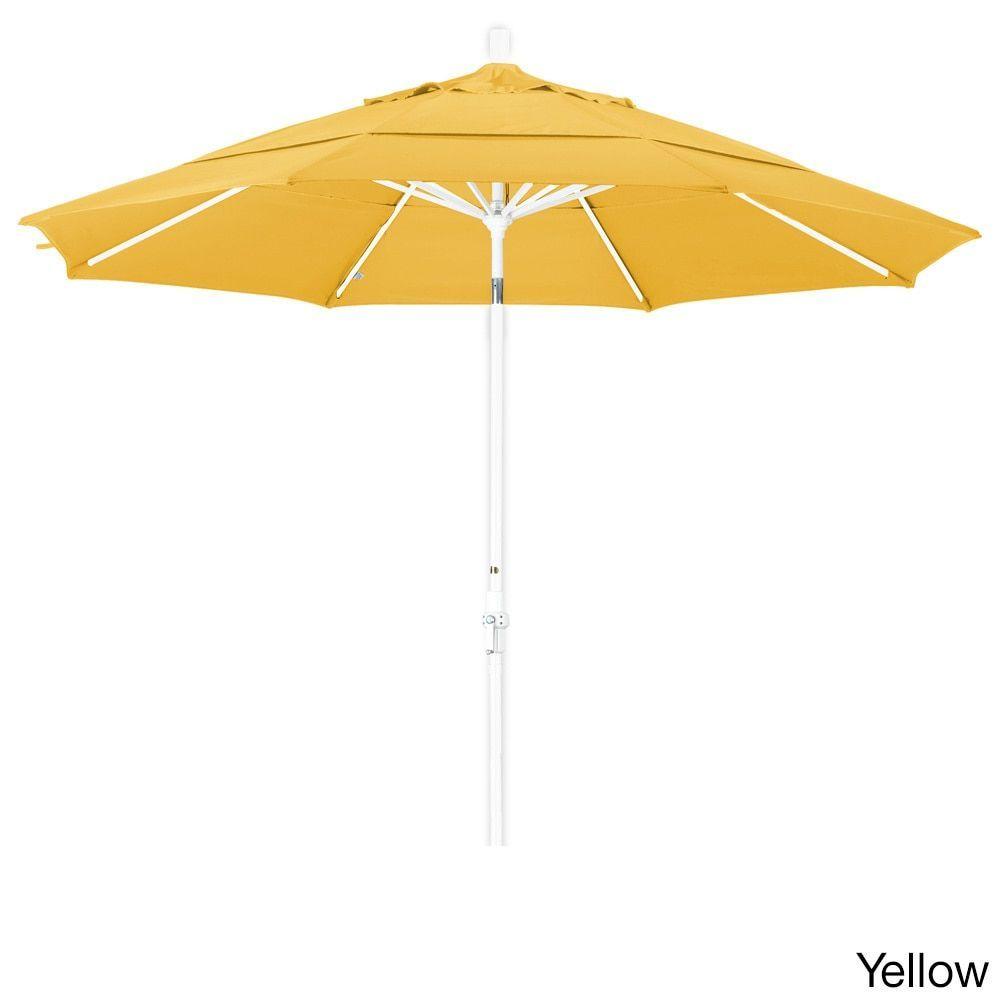 California Umbrella 11' Rd. Market Umbrella, Crank Lift, Collar Tilt, Dbl Wind Vent, Finish, Pacifica Fabric