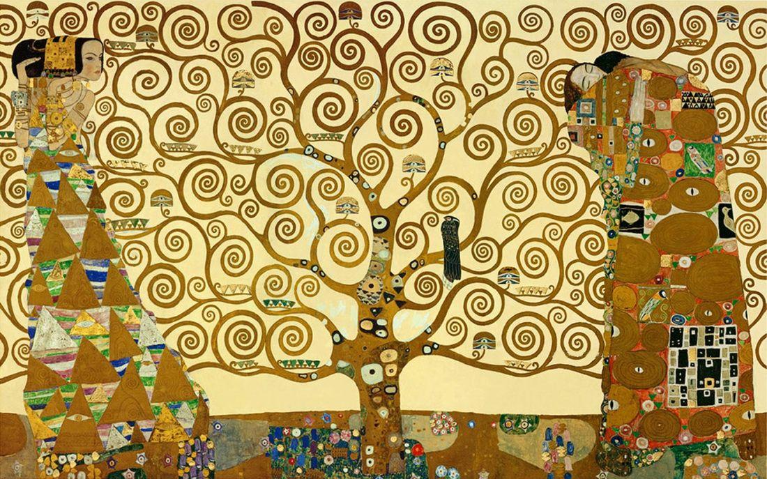 The Tree of Life by Gustav Klimt | Lone Quixote | #GustavKlimt #klimt #ArtNouveau #art #kiss #kissing #atx #txst #arte #artwork  #nouveau #painting #FineArt
