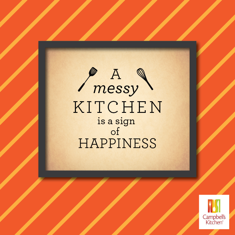 Messy Kitchen Quotes: A Messy Kitchen Is A Sign Of Happiness! #Kitchen #Sign
