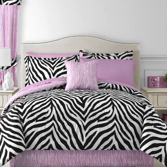 Sassy Zebra Complete Bedding Set With Sheets Teen