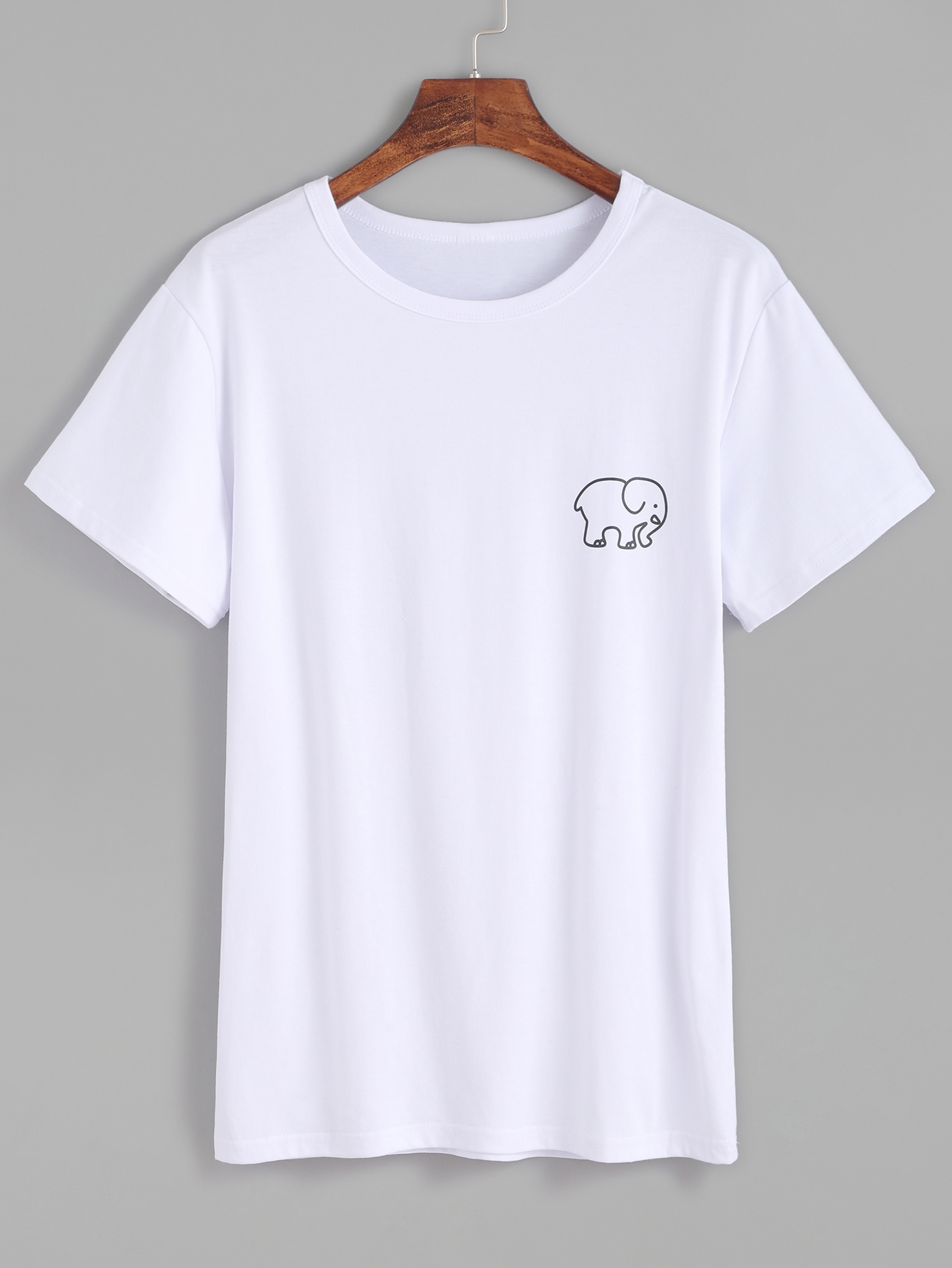 5f78a53367a5e0 Hot Cotton Blends cunning Short arm pronounce Neck Animal black and white  artifact HA no continuance time of year T Shirts.